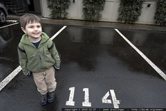 reading aloud   the numbers of every parking space