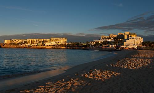 beach netherlands dutch saint st sunrise martin sint maho sxm antilles maartin tncm