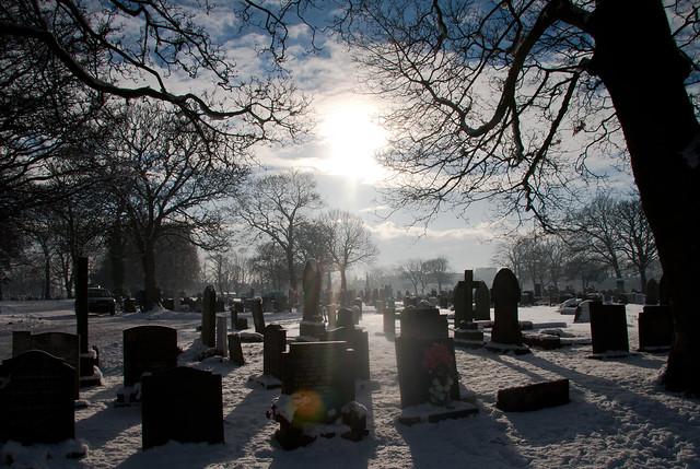Kirkdale Cemetery (Walton) in Snow