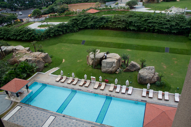 Westin Hotel Swimming Pool Patio In Hyderabad Mindspace In Flickr Photo Sharing