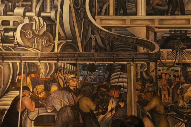 Diego rivera mural at the detroit institute of arts for Detroit mural factory