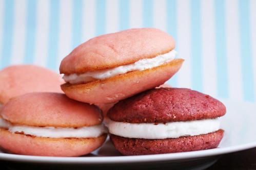 Pink Velvet Whoopie Pies