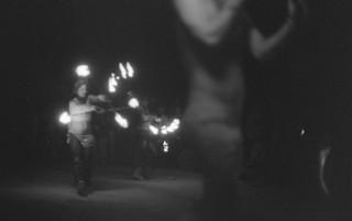 Fire Dancers at Temple burn //