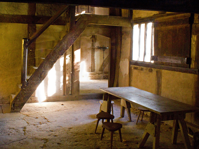 interior of medieval house avoncroft museum of buildings