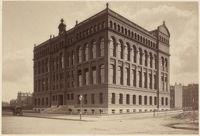 Originally Harvard College, Medical School. Later Boston University C.L.A. Boylston Street.