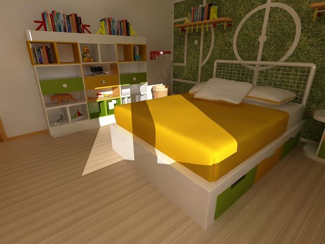 Mobiliario infantil decoracion de cuarto de ni os pared - Decoracion habitacion nino ...