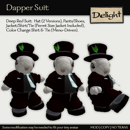 ~Delight~ Dapper Suit (Deep Red)