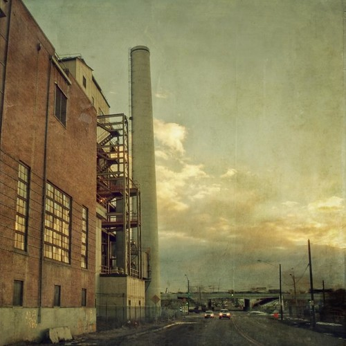 morning color cars clouds sunrise canon vintage square colorado industrial glow denver aged powerplant lincolnpark artlibres texturesquared t1i applessistersresources