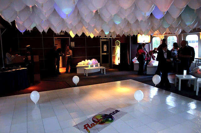 Led balloon ceiling flickr photo sharing for Balloon ceiling decoration