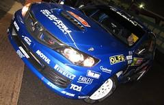 Toshi Arai - Team Arai Subaru Impreza WRC Wales Rally GB Cardiff Bay Service / Park Ferme November 2010