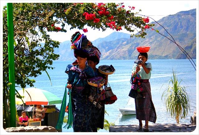 Panajachel Maya girls Lake Atitlan