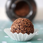 Hand-made chocolate truffles