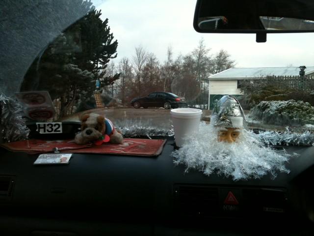 Barnsley Cab Christmas Dashboard Display With Coffee Flickr Photo Sharing