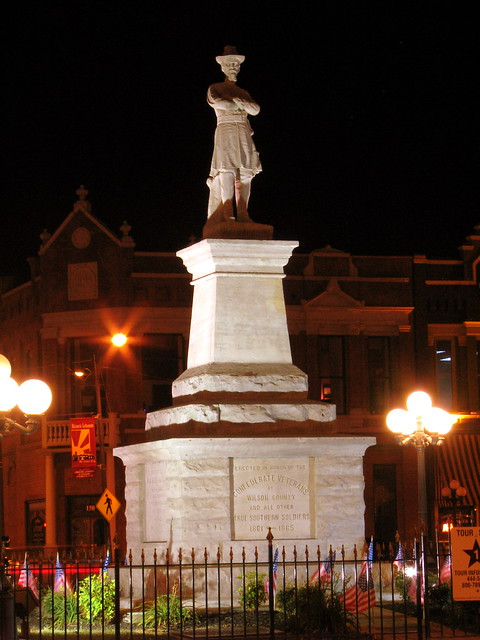 Lebanon's Gen. Hatton Monument at Night