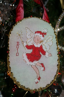 2010 Christmas Fairy  Cross stitch ornament