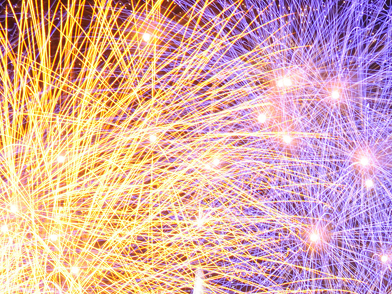 Close-up New Year's Eve Fireworks