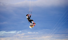 air sports, sports, windsports, extreme sport, blue, kitesurfing,