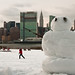 12/365 - The Giant Snowman of Gantry Park, Long Island City. by Gina Herold