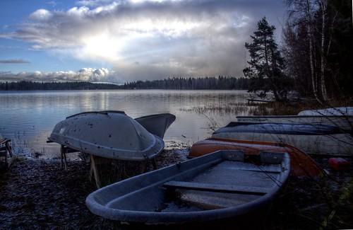 Barcas congeladas // Frozen boats