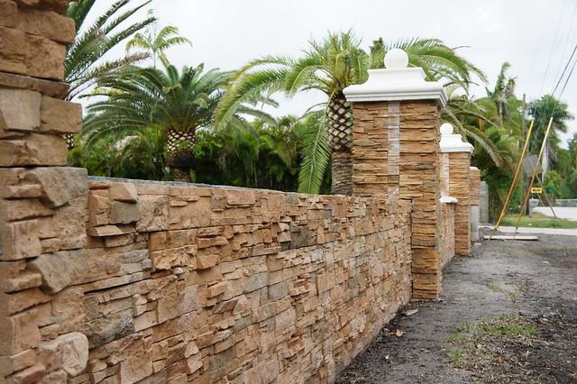 Brick And Stone Pillars : Brick stone wall and pillars explore