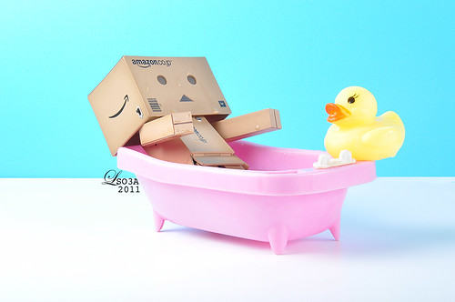 Danbo Takes a Bath