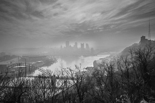 city morning bridge bw sun fog architecture clouds sunrise canon landscape am pittsburgh pennsylvania pa burgh westendoverlook downtownpittsburgh westernpa h3c69ceee foggypittsburgh