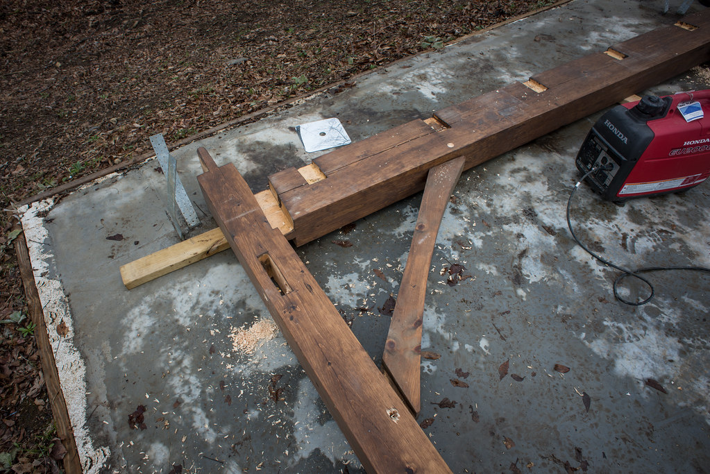 Timber Frame Cottage Raising: The Big Day, Part Two