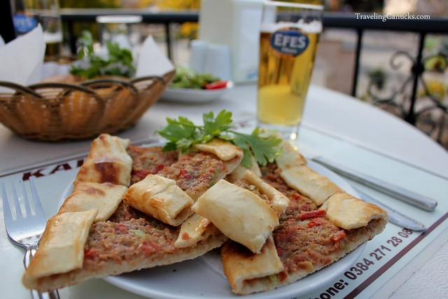 Turkish Pide and Efes Beer - Cappadocia