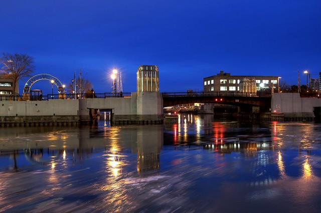 Cherry Street Bridge Twilight