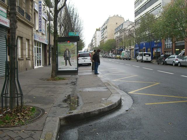 Остановочный выступ в Париже