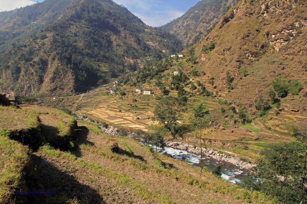 Valley near Nepal's Himalayan Mountains