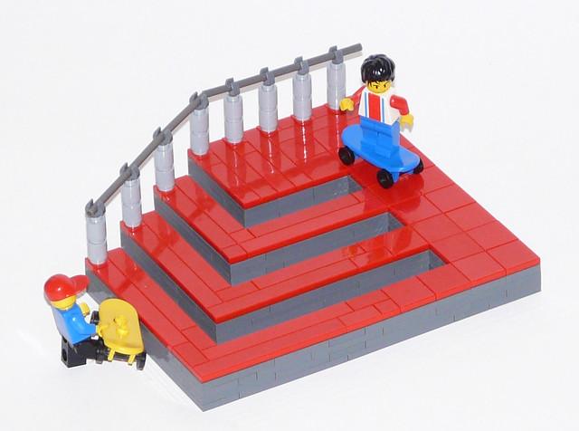 optische t uschungen la m c escher im lego style ein. Black Bedroom Furniture Sets. Home Design Ideas