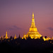 Golden Shwedagon Pagoda in Yangon at Dawn ~ Myanmar (Burma)