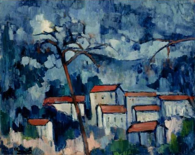 Vlaminck Maurice De 1876 1958 1907 Landscape With Red