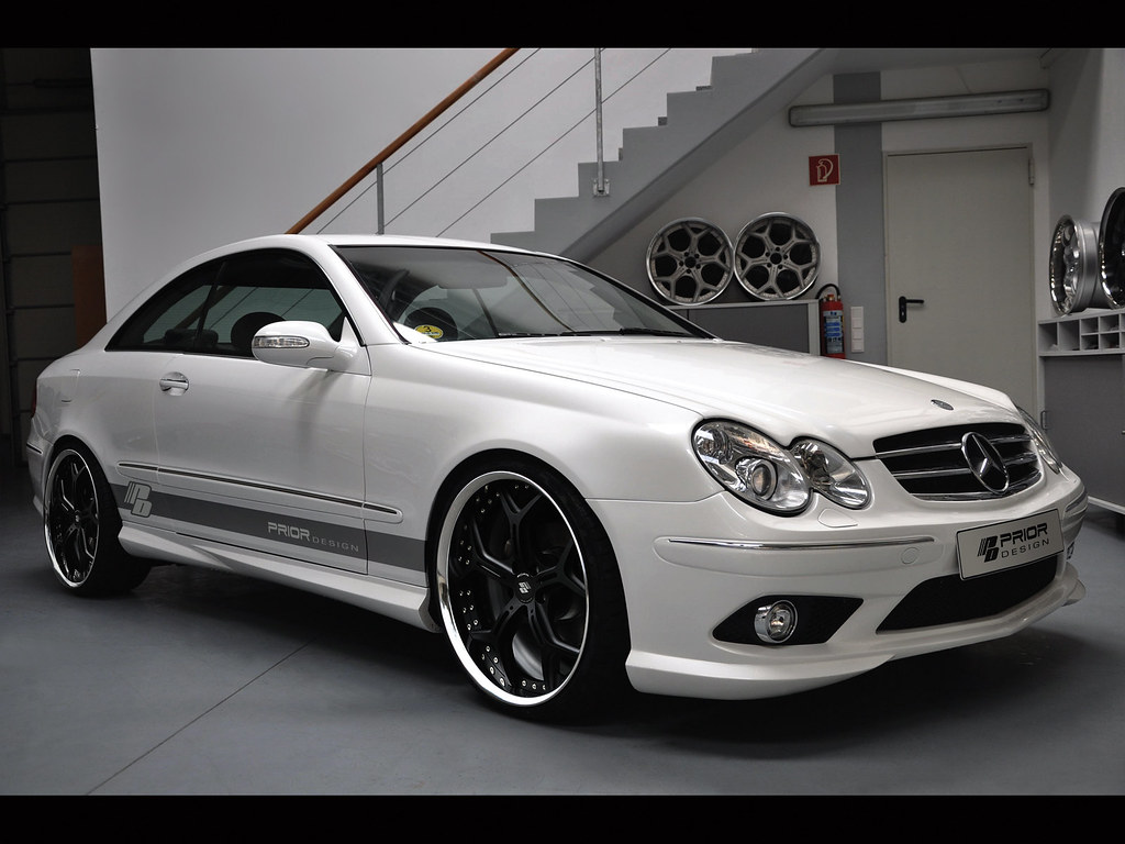 prior design mercedes benz w209 clk 430 55 amg aerodynamic. Black Bedroom Furniture Sets. Home Design Ideas
