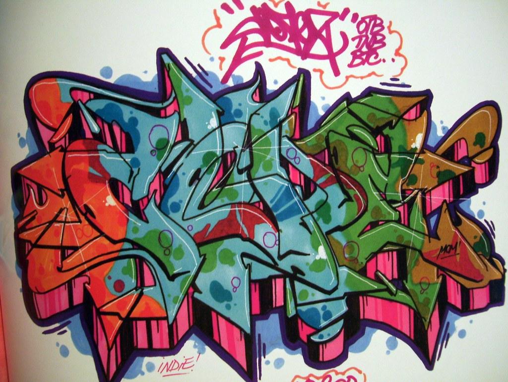 Graffiti art designs - Cope Graffiti Sketch By Atik Rgt Via Flickr