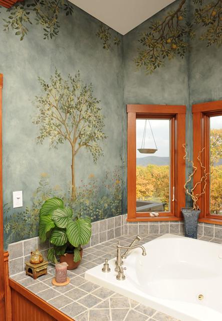 Bath with stencils beautiful wall stencils by cutting edge stencils