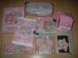 Little Twin Stars Diary, Cosmetic Pouch, Sticker Album, Pen Holder, Card Holder, T-Shirt Memo Pad, Cheque Book Memo Pad