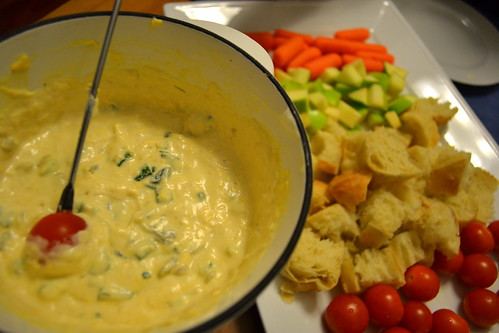 Cheese Fondue (Cooked)