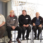 2 picture of Al Alcorn, Donald Knuth, Steve Wotzniak, Max Mathews, and Frances Allen
