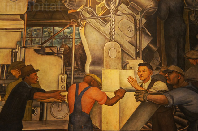 Diego rivera mural at the detroit institute of arts for Diego rivera ford mural