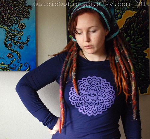 Perception Mandala silkscreen print shirt