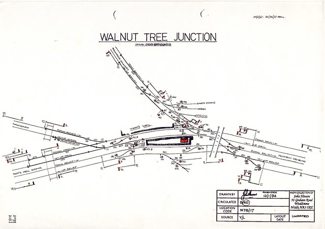 walnut tree junction diagram c 1960  courtesy of john hinson   signalbox org