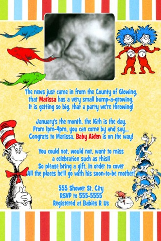 Dr Suess Baby Shower Invitation as perfect invitations design