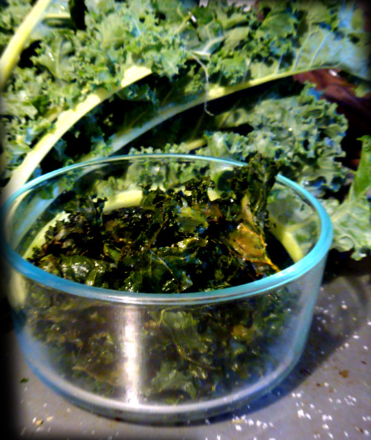 "Baked kale ""chips"" | Flickr - Photo Sharing!"
