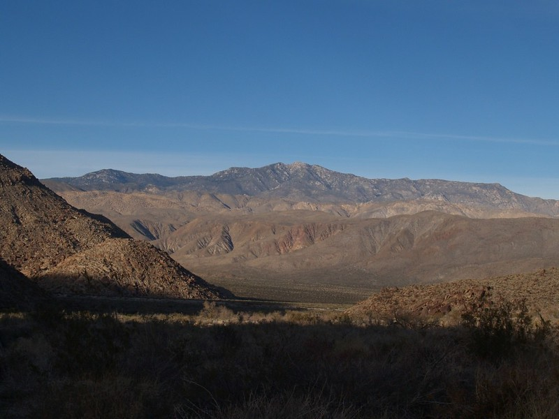 Santa Rosa Mountain and Toro Peak in the distance across Collins Valley