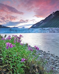 Childs Glacier tumbling into the Copper River, Chugach National Forest, Alaska
