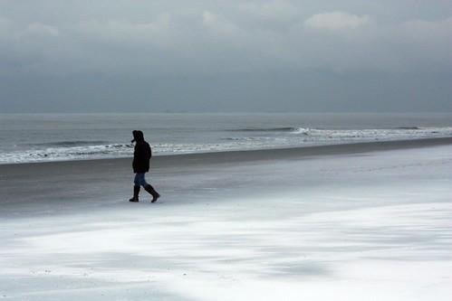 Neve na praia