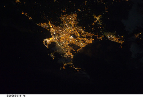 Capetown, South Africa at Night (NASA, International Space Station, 11/15/10)