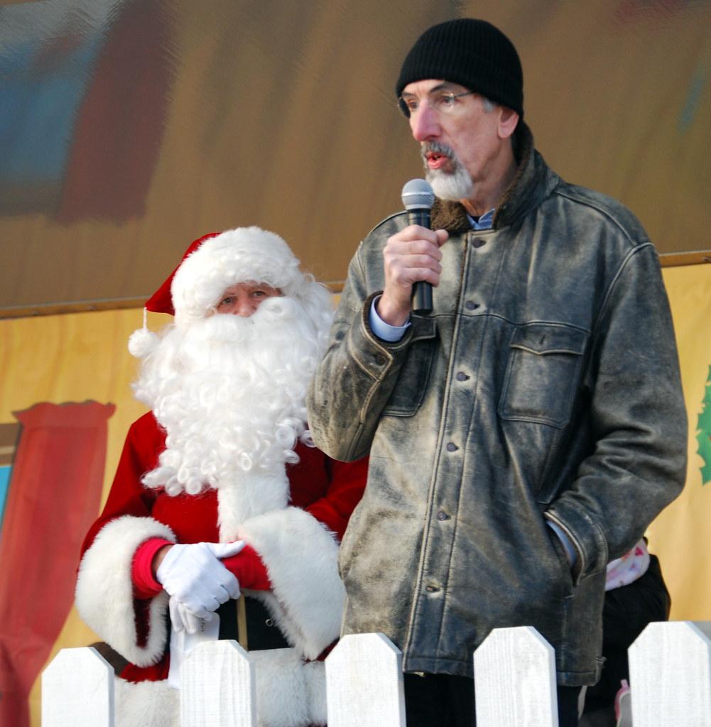 Santa Claus arrives at Penguin Park